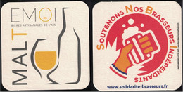 France Sous Bock Beermat Coaster Malt Emoi Bières Artisanales De L'Ain - Portavasos