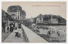 (RECTO / VERSO) GRANVILLE - N° 140 - LE NORMANDY HOTEL ET CASINO - PERSONNAGES - CPA - Granville
