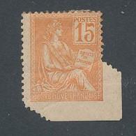 ED-14: FRANCE: Lot Avec N°117* Variété De Piquage Par Pliage - Curiosities: 1900-20 Mint/hinged