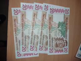 LOT 5 PCS - SIERRA LEONE 20 LEONES 1984. AUNC - Sierra Leone