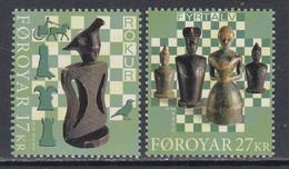 2020 Faroe Islands Chess Echecs Complete Set Of 2 MNH @ BELOW FACE VALUE - Faroe Islands