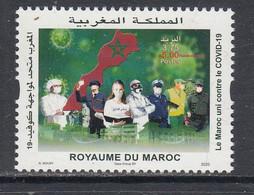 2020 Morocco Maroc Covid Health Police Semi-postal Complete Set Of 1 MNH - Morocco (1956-...)