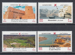 2020 Oman Tourism Bridges Forts Ships   Complete Set Of 4 MNH - Oman