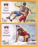 2021 2020 Moldova Moldavie Moldau Tokyo Summer Olympics, Freestyle Wrestling, Canoe 1 V Mint - Eté 2020 : Tokyo