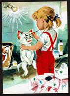 Carte Illustrée - Pierre Probst - Les Aventures De Caroline - N° 6 - Chat Blanc - Voir Scans - Altre Illustrazioni