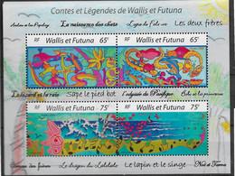 2005  Wallis Et Futuna  N° BF 19  Nf** MNH. Contes Et Légendes. - Hojas Y Bloques