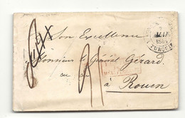 TURQUIE - CONSTANTINOPLE Pour Le Général GERARD à ROUEN. Lettre Purifiée (entaille). Cachet PURIFIE LAZARET  Au Verso - 1801-1848: Precursori XIX