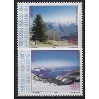 Makedonien 1999 Europa CEPT Natur-/Nationalparks 162/63 Postfrisch - Macedonia