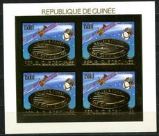 GUINEE 1986 Comète HALLEY Space Gold Foil Or MICHEL 1113 B - Guinée (1958-...)