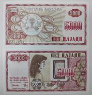 Macedonia 5000 Denari P 7 1992 UNC - Macedonia