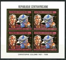 Centre Afrique 1985 Christophe COLOMB Space Shuttle Ship Gold MICHEL 1201 A - Centrafricaine (République)