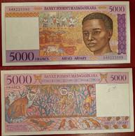Madagascar 5000 Francs 1995 ND P 78 UNC - Madagascar