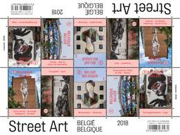 Belgische Street Art In Beeld 4770/74**   België 2018  Un Zoom Sur Le  Street Art Belge MNH Postfris - Nuevos