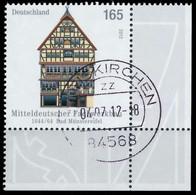 BRD BUND 2012 Nr 2931 Zentrisch Gestempelt ECKE-URE X325EBE - Oblitérés