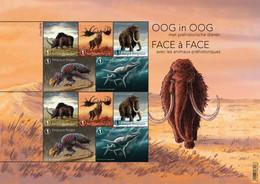 4795/99** Prehistorische Dieren - Animaux Préhistorique -Prehistoric Animals- Prähistorische Tieren MNH / 2018 België - Hojas