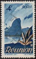 Réunion Obl. N° 274 - Détail De La Série émise En 1947 Le 4 F Bleu - Usados