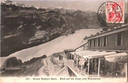 CPA Ligne Crémaillère Brienz Rothorn-Bahn, Blick Auf Die Alpen Und Brienzersee/Vue Sur Les Alpes & Le Lac De Brienz 1911 - BE Berne