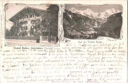 CPA Suisse (Berne) Interlaken - Vue Du Chalet Roten 1910 Précurseur TBE éd. Otto Schlaefli à Interlaken - BE Berne