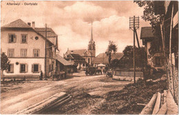 CPA Suisse (Fribourg) Tavel - Alterswyl, Dorfplatz / Alterswil, Place Du Village TBE 1911 éd. Alb. Ramstein, Animée - FR Fribourg