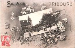 CPA Suisse Fribourg - Souvenir 1911 éd. Thimothée Jacot à Neuchâtel - FR Fribourg