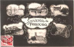 CPA Suisse Fribourg - Souvenir Multivues 1912 éd. Thimothée Jacot à Neuchâtel - FR Fribourg