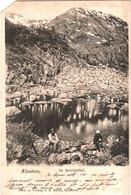 CPA Suisse (Grisons) Klosters - Im Vereinathal, Précurseur 1902, éd. A. Büchi à Klosters - GR Grisons
