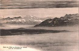 CPA Suisse (Valais ) Dent Du Midi Et Entrée Du Valais Vus Du Chasseron TBE 1910 éd. A. Deriaz à Baulmes - VS Valais