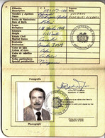 Bolivia 1980 Passport Issued In Washington DC Stamps H & A # JA21, Types JA $ B5 And 10 And Type # 134. - Bolivia