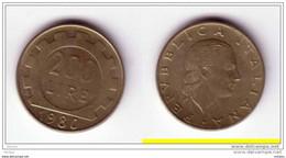 ##8, Italie, Italia, 200L, 1980 - 200 Lire