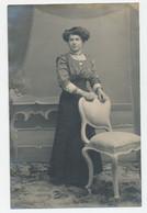 Fotokaart - Kabinetfoto - Vrouw - Fotograaf Leon Van Den Broeck, Heyst-op-den-Berg - Personnes Anonymes