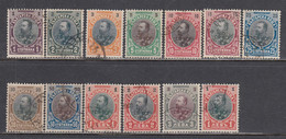 Bulgarie 1901 - Roi Ferdinand I, YT 50-61 + 59a, Obliteres - Usati