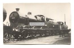 Derby - British Railways Locomotive No. 44571 In 1957 - Real Photo Postcard By C BH Swallow. - Treni