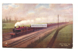 Leeds Express, Near Hendon - Midland Railway - Tuck Postcard No. 6493, Used In 1904 - Treni
