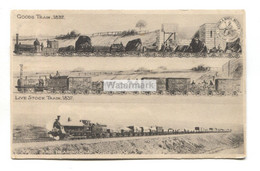 LNWR - Goods And Live Stock Trains In 1837, Goods Train Nearing Shap Summit In 1904 - Old Tuck Postcard - Treni
