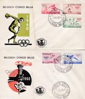 Enveloppes FDC 367 à 371 Sport Jeux Olympiques De Rome - 1947-60: Covers