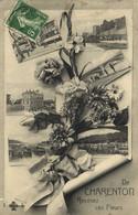 Fantaisie De CHARENTON  Recevez Ces Fleurs Multivues Recto Verso - Charenton Le Pont