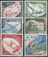 NB - [801615]TB//O/Used-MONACO - N° 386/91, Jeux Olympiques D'Helsinki, Dont 2 Timbres Sans Gomme - Used Stamps