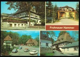 DDR Mehrbild AK Um 1981 Frohnauer Hammer Mit Schönen DDR KFZ Oldtimer, Gaststätte - Andere