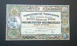 Switzerland 1944: 5 Francs Series 28.T - Switzerland