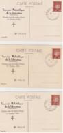 DEPART 1€ RARE 3 CARTES FFI DE LA LIBERATION D'ANNEMASSE COTE 360€ Au Catalogue P. Mayer - Liberation