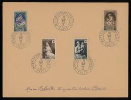 "TREASURE HUNT [00902] France 1956 ""Oeuver Des Orphelins De PTT"" Paris Souvenir Cover, Bearing Red Cross Stamps - Red Cross"