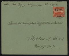 TREASURE HUNT [01000] Saar 1922 Cover From Wadgassen To Berlin Bearing 15c On 40 Pf Red Single Franking - Brieven En Documenten