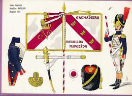 Planche Rigo - Le Plumet 110 - Garde Impériale - Bataillon NAPOLEON - Drapeau 1814 - Histoire