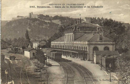 BESANCON Gare De La Mouillère Et La Citadelle Train - Besancon