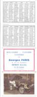 Calendrier Boulangerie Pâtisserie Confiserie Georges Paris Ermont Val D'Oise 1965 Signalisation Routière - Small : 1961-70