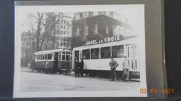 Photo (13 X 9 Cms) - Tramway Ligne De Lille En Arrêt à Bruxelles (Place Quetelet) - Autres