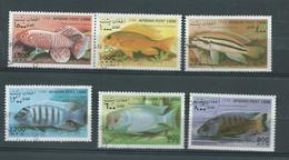 Afghanistan  - 6  Timbres Oblitéré ,poissons Divers    - Po 65402 - Afghanistan