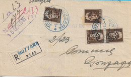 LUOGOTENENZA - RACCOMANDATA L. 4,80 DA SUZZARRA PER GONZAGA CON COPPIA E DUE L.1,20 IMPERIALE SENZA FASCI 07.01.1946 - Storia Postale