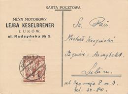 LUKOW / POLEN -  1939  ,  Karta Pocztowa  -  Nach LUBLIN - Briefe U. Dokumente
