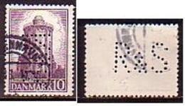 DENMARK - 1942 - 300ans De La Station Astronomique Et Meteorologique - 10 Ore - Perfinee -  Mi 278 - Gebruikt